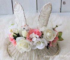 Flower Crown Bunny Flower CrownsBoho Props by ZorayaBabyProps