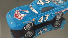 Painting of one of the main characters of the cars movie, the painting is from the diecast model scale 1:55, shows all the details, decals and shapes of the original model. It is showcased in a photorealistic painting with acrylics on canvas, measures 50x40cm Disney Concept Art, Photorealism, Car Painting, Diecast Models, Acrylics, Muscle Cars, Automobile, Decals, Characters