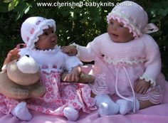 """Candyfloss Flo Knitting Pattern - sizes 16"""" to 22"""" - available from: http://www.cherished-babyknits.co.uk/Catalogue/P_Flo.htm"""