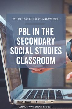 Get your Project-Based Learning questions answered with this in-depth guide written by a full-time PBL high school social studies teacher. Packed with been-there advice and tips for creating your first PBL unit! Social Studies Classroom, History Classroom, Teaching Social Studies, Classroom Teacher, Classroom Ideas, Inquiry Based Learning, Project Based Learning, Teaching Government, World History Teaching
