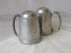 Vintage Tankard Hanle Debler Pewter Salt and Pepper Shakers by MendozamVintage on Etsy
