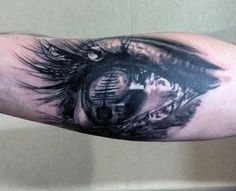 Small Eye Pirate Ship Tattoo For Men