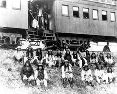 Geronimo and fellow Apache Indian prisoners on their way to Florida by train by State Library and Archives of Florida, via Flickr