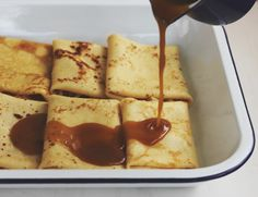 Butterscotch and Apricot Crepe Bake | The Sugar Hit
