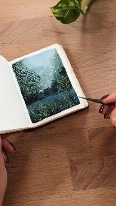 A Level Art Sketchbook, Arte Sketchbook, Watercolor Landscape, Watercolor Art, Colorful Drawings, Art Drawings, Art Painting Gallery, Art Prompts, Guache