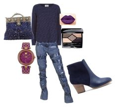 """""""Friday"""" by nzikop on Polyvore featuring Allude, Selection Privee, Sole Society, Christian Dior and Versace"""