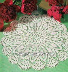 Crochet doily - crochet doilies - Home decor - White crochet doily - Handmade tablecloth by DoiliesbyElena on Etsy Crochet Lace Edging, Crochet Mandala, Crochet Diagram, Crochet Doilies, Free Crochet, Crochet Patterns, Crochet Instructions, Wood Creations, Kugel