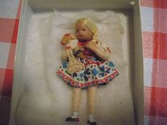 Vintage Shackman Doll-Blond Haired Pigtail Doll With Tag-Made In Germany-Dressed #Shackman #DollswithClothingAccessories