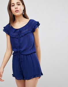 c2debacce52c Brave Soul Candy Romper with Frill Off Shoulder