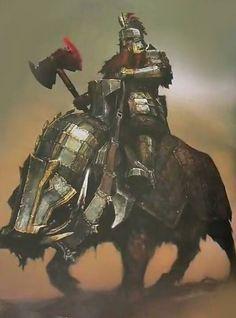 "Thrain Dain "" Martelo Forte "" - Rei de Dras'Kur - Jürmun'dür-Sure want a riding boar like that!"