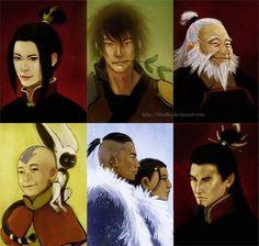 Realistic Avatar art. where's zuko though?