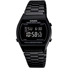 Casio Men's Digital Vintage Black Stainless Steel Bracelet Watch... ($65) ❤ liked on Polyvore featuring men's fashion, men's jewelry, black and mens watches jewelry #mensbracelet