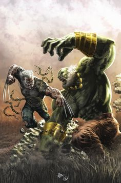 "imthenic: "" Old Man Logan VS Maestro by Mike Deodato Jr. """