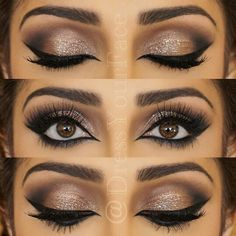 Eye make up Kiss Makeup, Prom Makeup, Wedding Hair And Makeup, Bridal Makeup, Indian Wedding Makeup, Wedding Makeup For Brown Eyes, Indian Makeup, Pretty Makeup, Love Makeup