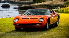 The 2016 Pebble Beach Concours d'Elegance wraps up the busy Monterey Car… Lamborghini Miura, Pebble Beach Concours, Concours D Elegance, Tractor, Cars Motorcycles, Cool Cars, Super Cars, Classic Cars, Automobile