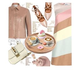 """""""Spring Party  dress"""" by shoalehnia ❤ liked on Polyvore featuring Valentino, Rove Concepts, contest, dress, party and occasion"""