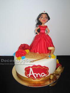 Doces Opções: Bolo de aniversário com a princesa Elena de Avalor...