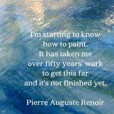 #renoir #quote on my #painting colorcatstudios101.etsy.com #colorcatstudios #quotes #artistquotes