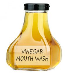 Apple cider vinegar mouthwash