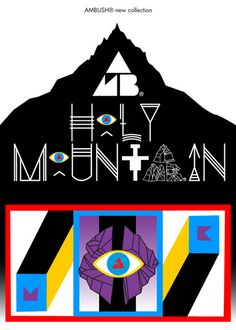 AMBUSH – Holy Mountain Collection | Inspired from the 1973 cult film Holy Mountain, directed by Alejandro Jodorowsky, the progressive Japanese jewelry brand AMBUSH translates the essence of the film into their products. Each piece mirrors the psychedelic and trippy colors and iconography used in the movie, with eyes and claws especially prominent in the design. This collection shows the insight into the minds of Verbal and Yoon, founders and designers of AMBUSH.