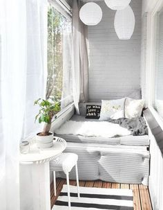 Brilliant Closed Balcony Design Ideas To Enjoy In All Weather Conditions Whether you live in a condominium, apartment or house, you don't have to limit landscaping to the interior of your […] Interior Balcony, Balcony Furniture, Interior Design Living Room, Living Room Decor, Cheap Furniture, Bedroom Balcony, Inexpensive Furniture, Furniture Websites, Bedroom Decor
