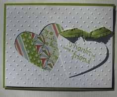 Using negative and positive die cuts
