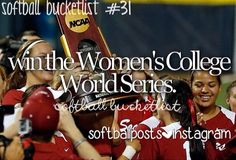 I will go to OK city and watch the WCWS once.