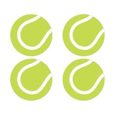 Tennis ball stickers. Great as envelope seals or decorative stickers on favors and more.