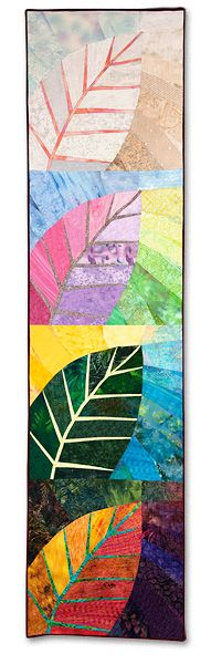 Vivaldi — A Quilt in Four Seasons by Susan E. Acevedo-inspiration for a class with paper for the kids. Beautiful Maybe I'll play the 4 Seasons and do leaf art Quilting Projects, Quilting Designs, Art Projects, Quilt Art, Tree Quilt, Patchwork Quilting, Small Quilts, Mini Quilts, Ecole Art