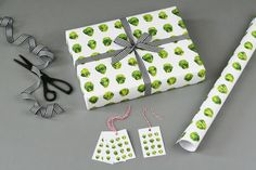 Luxury Christmas wrapping paper and matching gift tags - made in the UK.