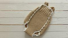 Macacão em trico para bebé by pontinhosmeus on Etsy