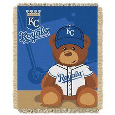 Kansas City Royals MLB Triple Woven Jacquard Throw (Field Baby Series) (36x48)