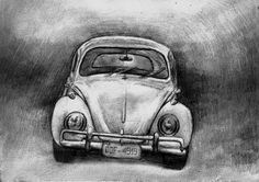 how to draw a vw bug | Old Volkswagen Beetle Drawing by Di Fernandes - Old Volkswagen Beetle ...