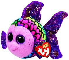 Beanie Boos Flippy the Rainbow Fish Beanie Boo Plush Toy Ty Beanie Boos, Beanie Babies, Large Beanie Boos, Ty Babies, Ty Toys, Kids Toys, Plush Dolls, Doll Toys, Plush Animals