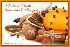 5 Natural Aroma Simmering Pot Recipes www.deniseinbloom.com