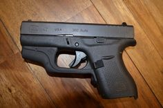 Glock 42 with laser! Find our speedloader now!  http://www.amazon.com/shops/raeind