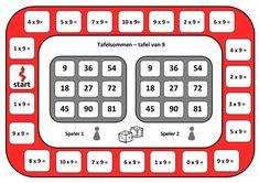spelbord tafel van 9.pdf Speech Language Therapy, Speech And Language, Math Games, Math Activities, Waldorf Math, Math Multiplication, Early Math, Math For Kids, Math Classroom