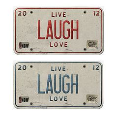Vintage License Plate Embellishments in RED and in Blue-High Resolution Web Elements 3×5 inch