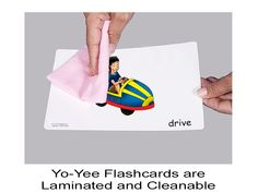 Colorful Verb Flashcards for Children