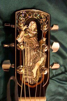 Larrivee LV-10koa guitar w/Emily in arbor headstock and full vine fretboard inlay