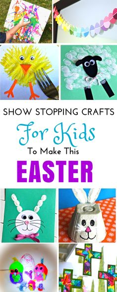 This enormous Roundup of easy Easter crafts contains everything you need for months of ideas for toddlers in preschool and older kids to make. You can find adorable Bunny crafts and decorations perfect for toddlers for kindergarten and great DIY Christian religious crafts for Sunday school. #easter #eastercrafts #eastercraftsforkids #kidscraft
