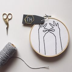 This hoop is on its way to L.A. 👌#happymail #embroidery #etsy #handmade #hoopart #hands #crafty #stitch