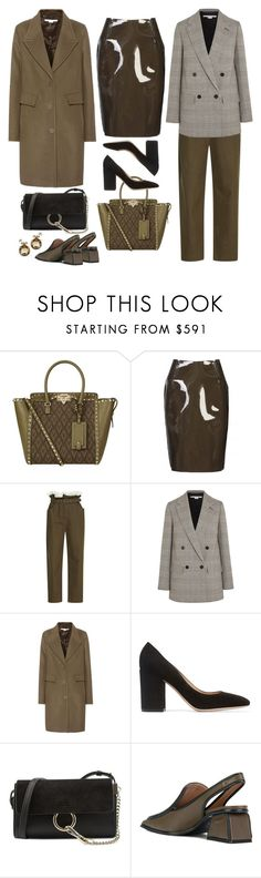 """Wool + PVC"" by cherieaustin ❤ liked on Polyvore featuring Valentino, Sibling, Isa Arfen, STELLA McCARTNEY, Gianvito Rossi, Chloé and Marni"