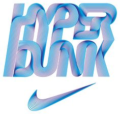 nike hyper dunk, by Alex Trochut