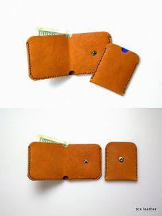 Mini leather men wallet /handmade men wallet /card holder on Etsy, $45.00