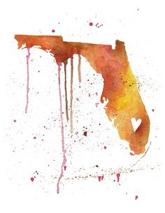 Water color Florida, Has all of the states (do one for every state lived?)