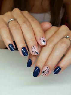 Round Nail Designs, Classy Nail Designs, Ombre Nail Designs, Acrylic Nail Designs, Classy Nails, Stylish Nails, Cute Nails, Pretty Nails, Nail Manicure