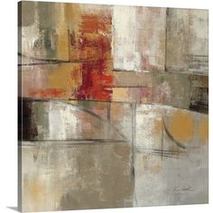 """Canvas On Demand 'Trajectory' by Silvia Vassileva Painting Print on Canvas Size: 24"""" H x 24"""" W x 1.25"""" D"""
