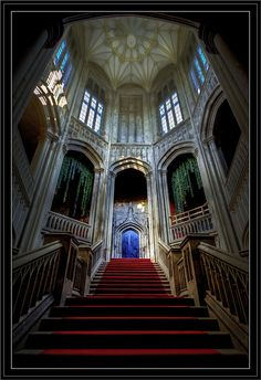 11th century Margam Castle : Tower & Staircase , Wales, UK