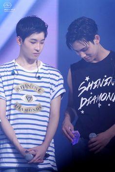 Wonwoo and Mingyu at Jamsil Concert Day 2 16.07.31